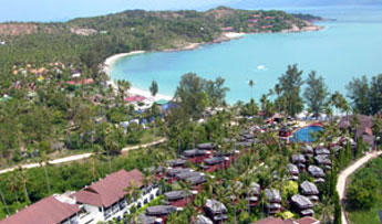 Choeng Mon beach bird's-eye view