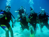 PADI Open Water German group