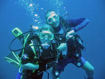 Diver fun diver in rescue course Koh Samui