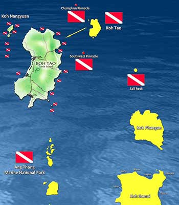 Koh Tao Speed Boat Itinerary Informations Underwater Maps Around